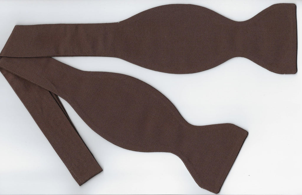 Brown Bow tie / Chocolate Brown / Solid Color / Self-tie & Pre-tied Bow tie