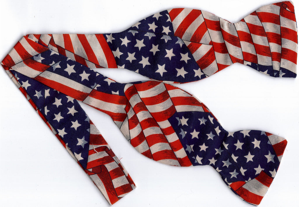 AMERICAN FLAG BOW TIE - STARS & STRIPES - Bow Tie Expressions  - 1