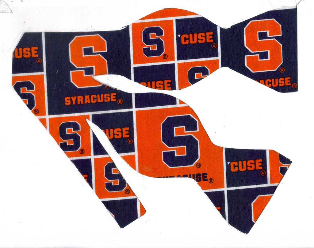 "SYRACUSE ""CUSE"" UNIVERSITY BOW TIE (BLOCKS) OTTO THE ORANGE - Bow Tie Expressions"