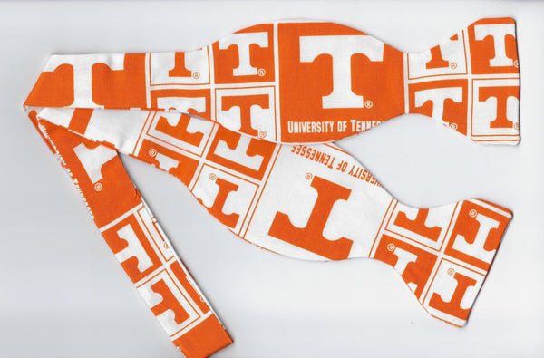 UT Vols Bow tie (Blocks) Tennessee Orange & White / College / Self-tie & Pre-tied Bow tie - Bow Tie Expressions