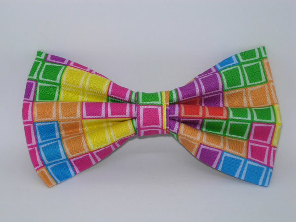 Gamer Bow tie / Tetris Tiles / Retro Arcade Game / Gaming Champ / Pre-tied Bow tie