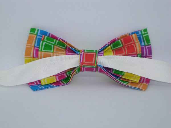 Gamer Bow tie / Tetris Tiles / Retro Arcade Game / Gaming Champ / Self-tie & Pre-tied Bow tie