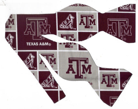 TEXAS A&M AGGIES BOW TIE (BLOCKS) with Reveille