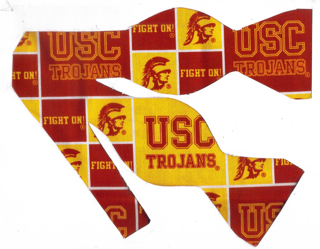 USC TROJANS BOW TIE (BLOCKS) UNIVERSITY OF SOUTHERN CALIFORNIA - Bow Tie Expressions