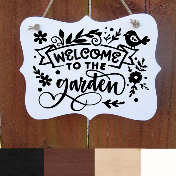 Farmhouse Sign, Welcome to the Garden, Rustic Wall Decor, Country Sign, Indoor & Outdoor Wood Plaque