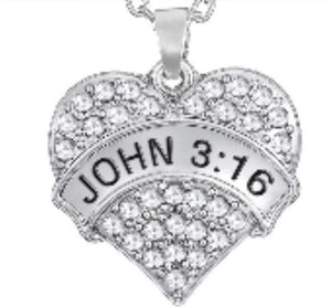 * John 3:16 Crystal Bracelet or Necklace