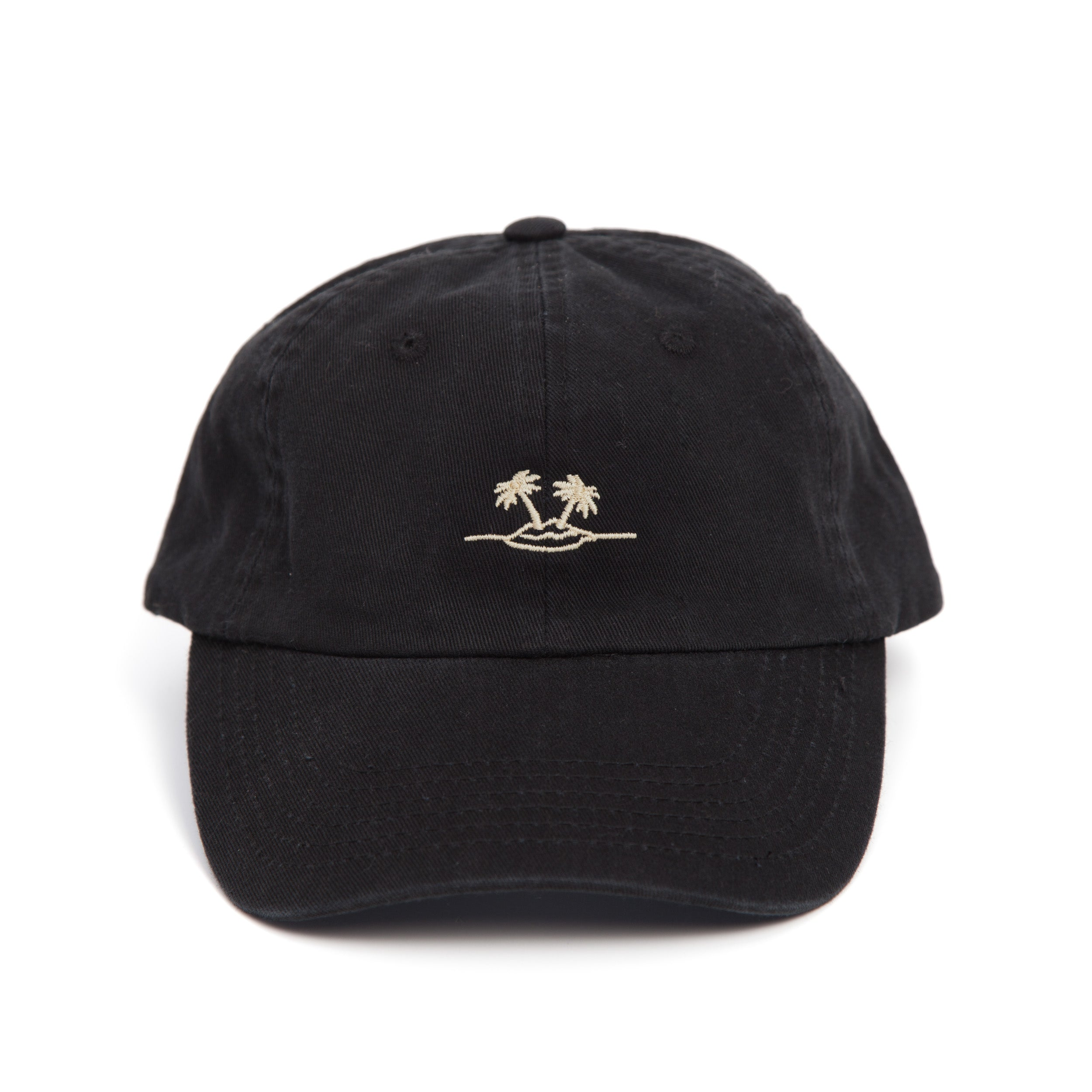 everythings good clothing co black dad cap palm
