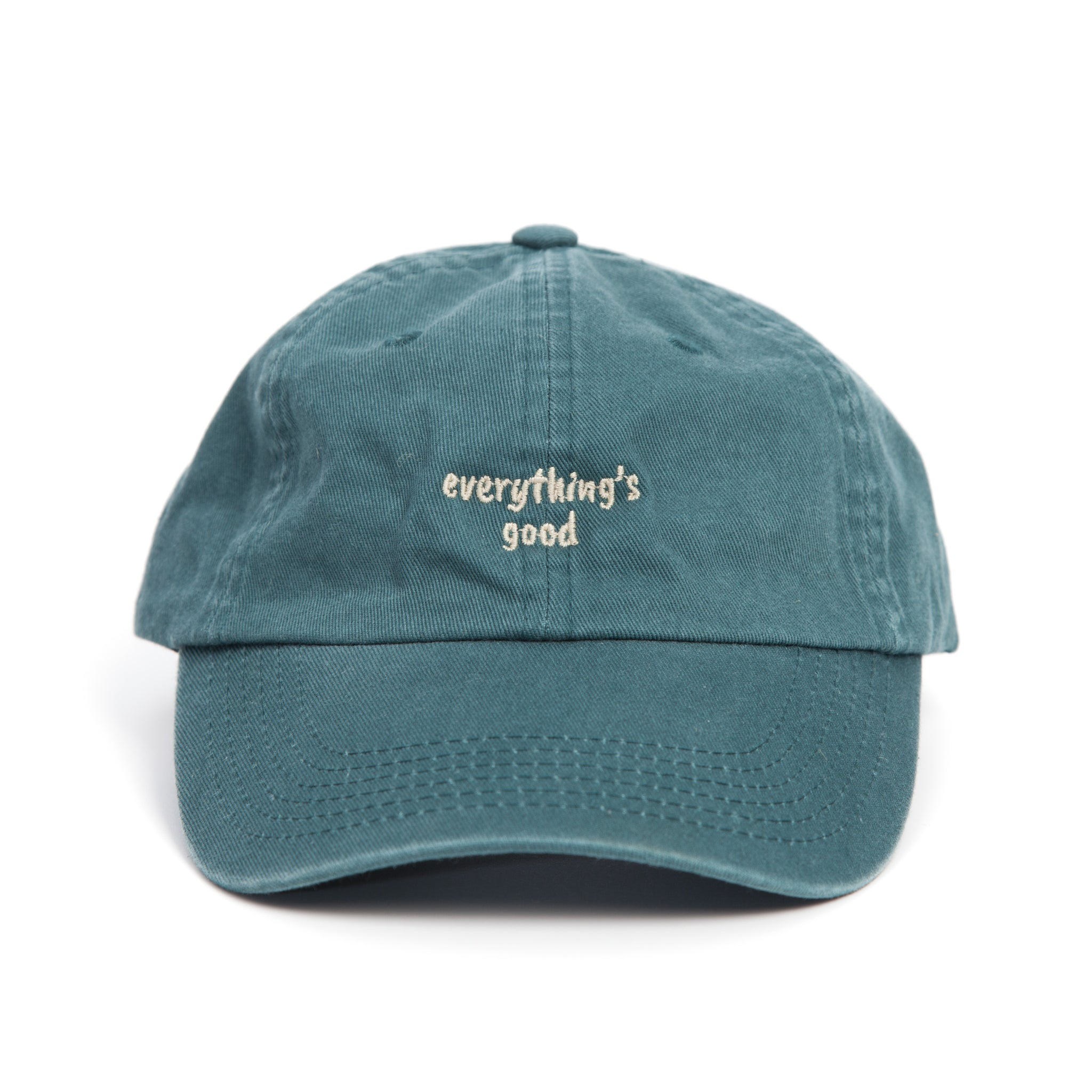 Teal Dad Cap // Everything's Good