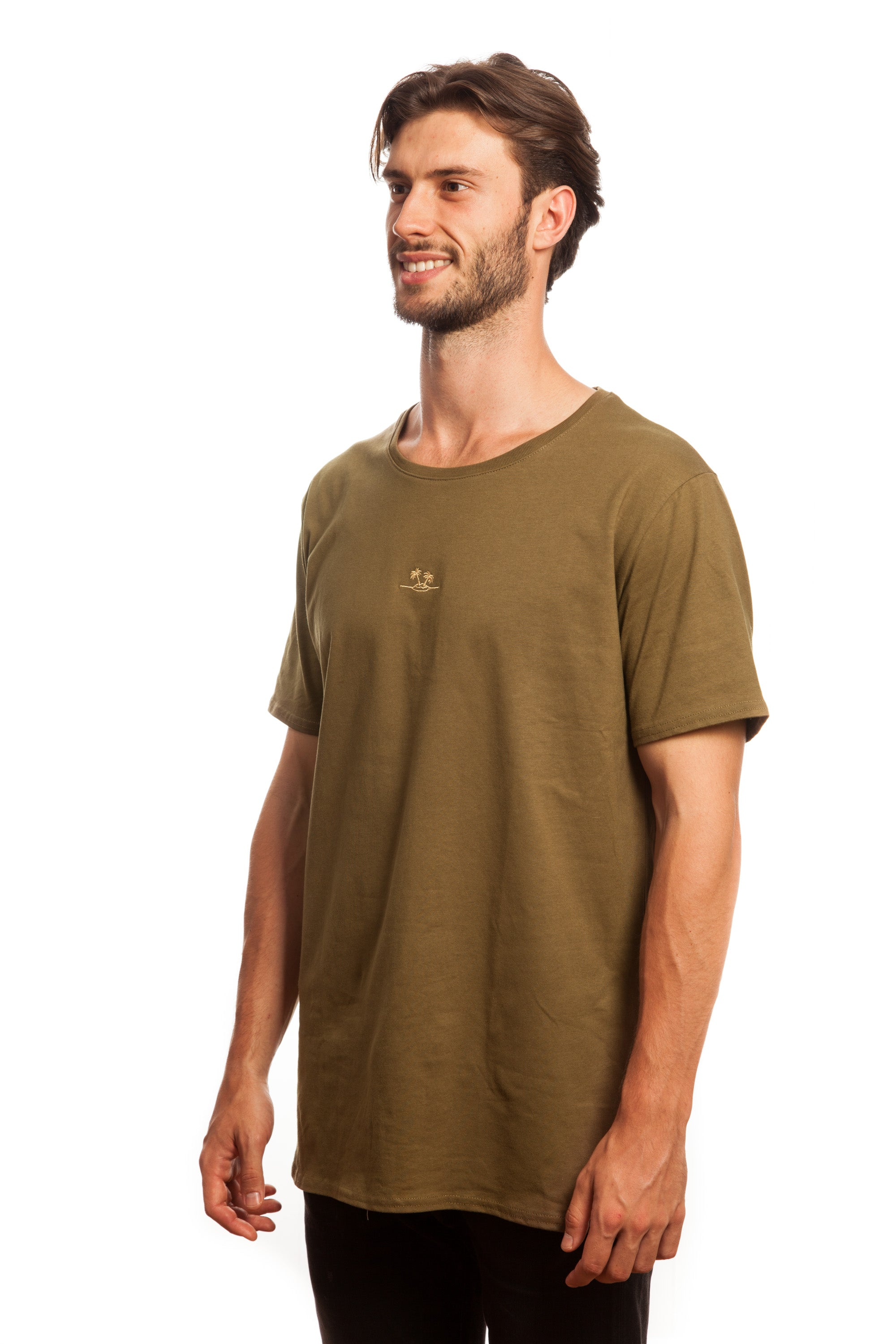 Khaki Embroidered Basic // Palm