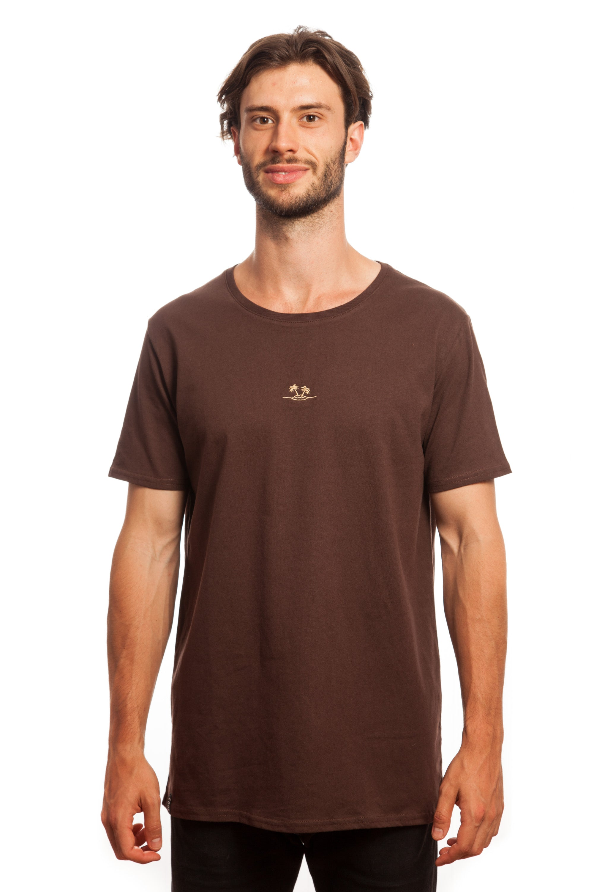 everythings good clothing co chocolate embroidered basic palm