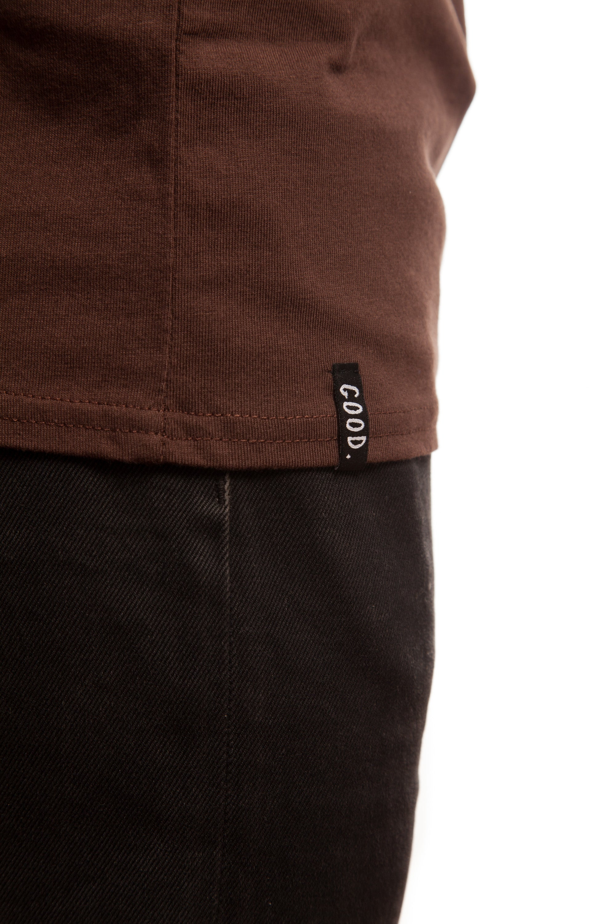 everythings good clothing co chocolate embroidered basic everythings good