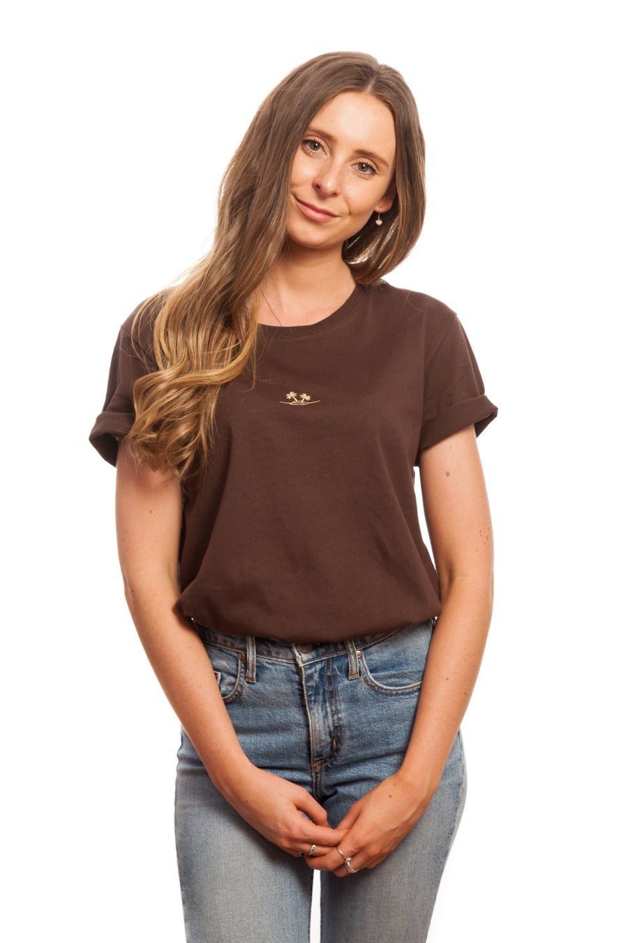 Chocolate Embroidered Basic // Palm