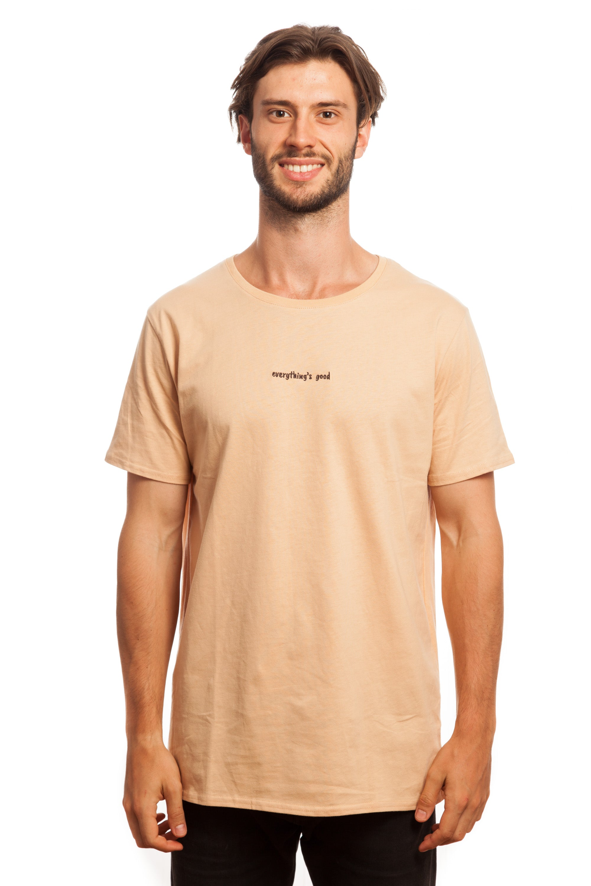Tan Embroidered Basic // Everything's Good