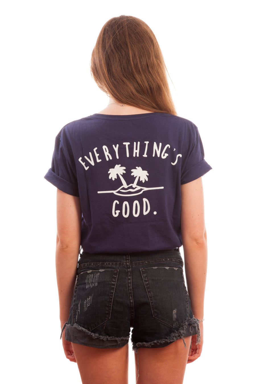 Everything's Good Tee // Navy