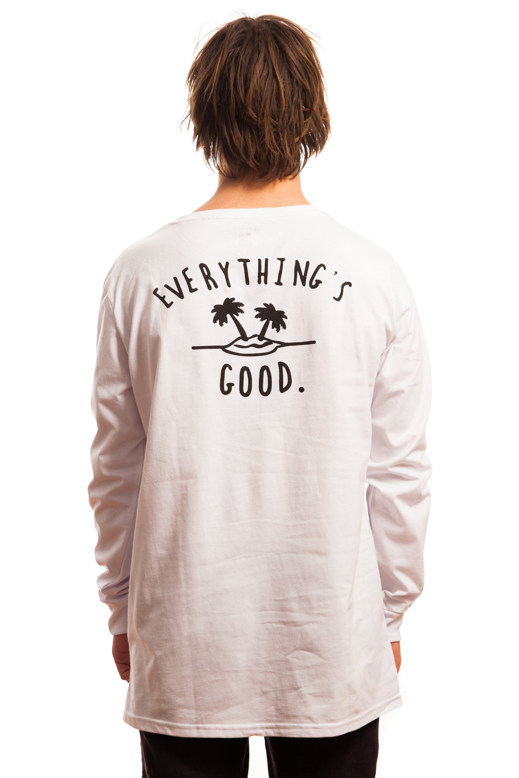 Everything's Good Longsleeve // White