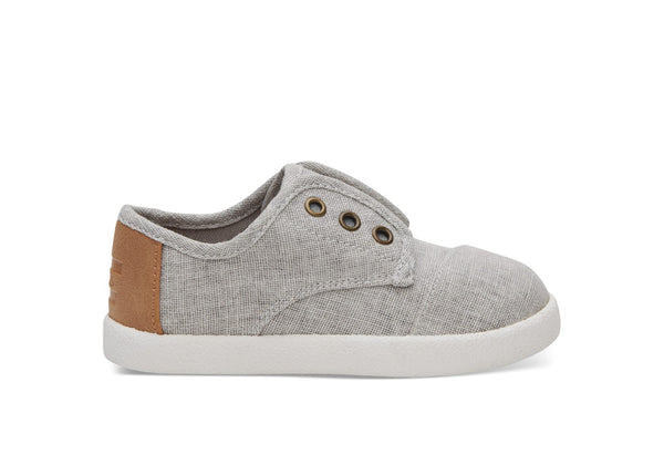 TOMS Drizzle Grey Coated Linen Paseo Sneakers