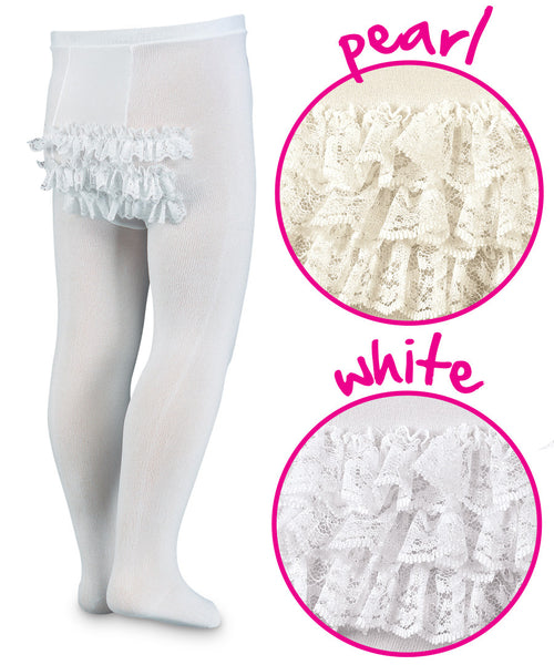 White Microfiber Rhumba Tights