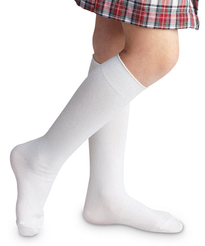 White High Class Nylon Knee High 1603
