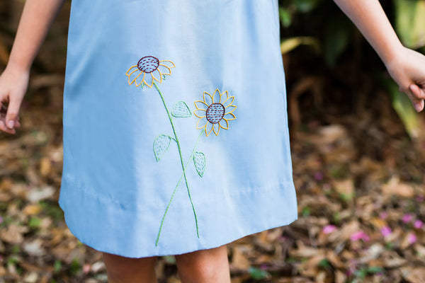 Embroidered Sunflower Dress
