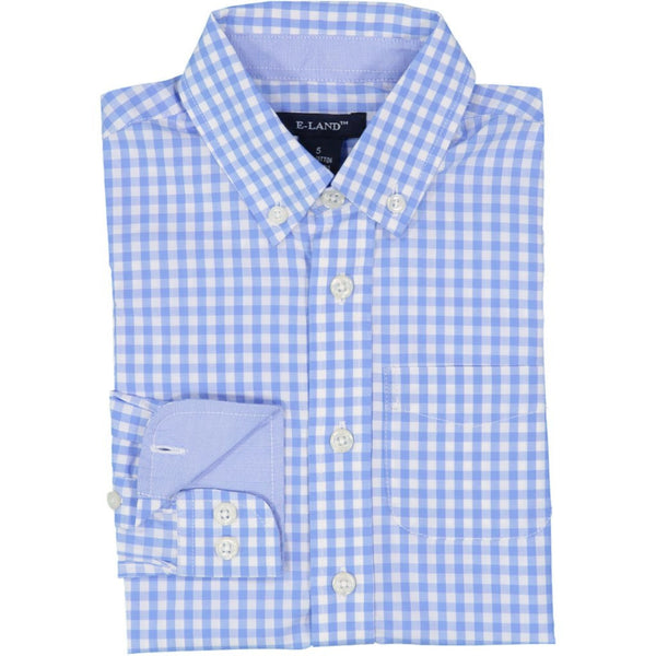 Blue Gignham Check Shirt LS