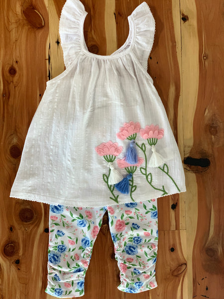 Floral Tunic and Capri