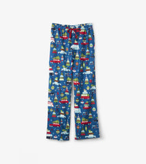 Men's Flannel Pants- Retro Festive
