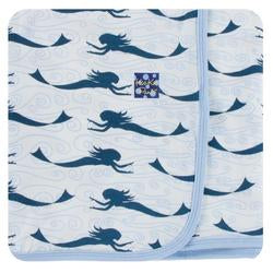 Print Swaddling Blanket- Natural Mermaid