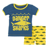 Print Short Sleeve PS Set w/ Shorts- Lemon Shark