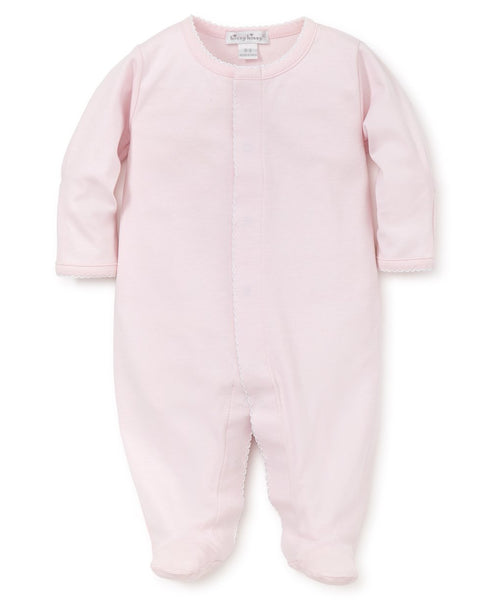 Pink/White Kissy Basics Footie