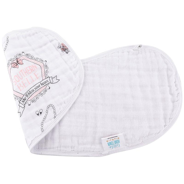 2-In-1 Burp Cloth and Bib - Southern Belle