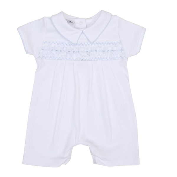 Bens Classic Smocked Collared Playsuit LB