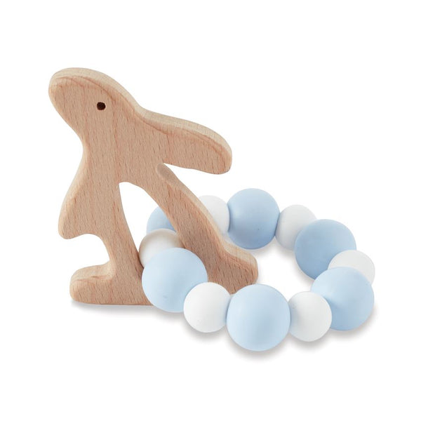 Blue Bunny Wood Teether
