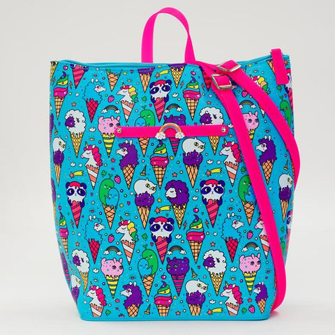 Blue Raspberry Ice Cream Yummy Gummy Zip Backpack