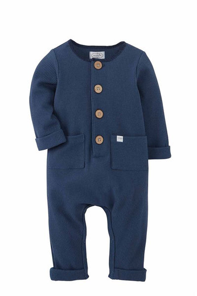 Blue Long Sleeve Baby Romper