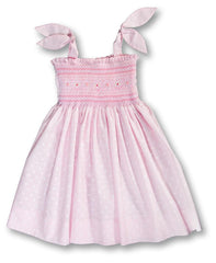 English Smocked Sundress w/ Ties