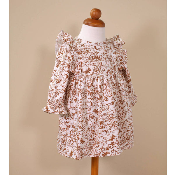 Floral Butterfly Flutter Baby Dress and Bloomer