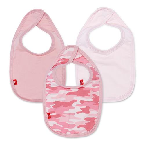 Pink Camo Modal Magnetic Bibs 3 Pack