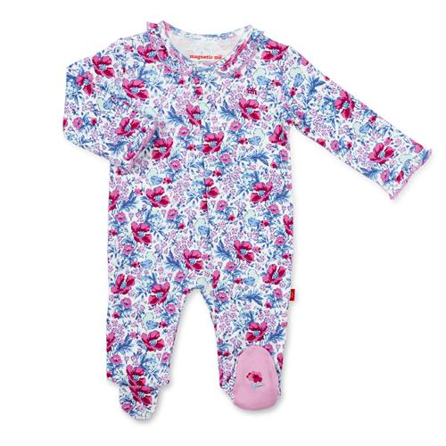Darlington Floral Organic Cotton Magnetic Footie