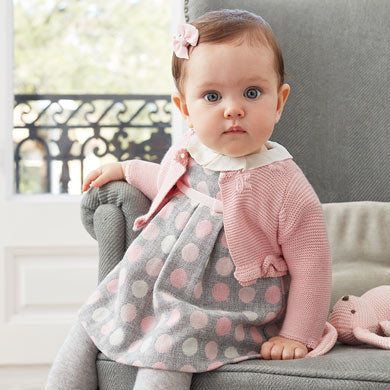 Grey and Pink Dots dress