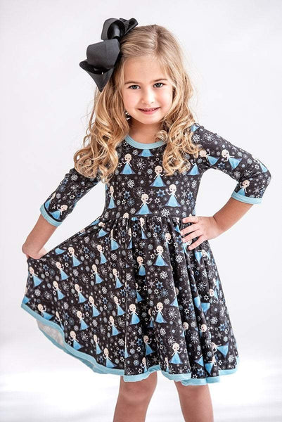 Frozen Princess 3/4 Sleeve Dress