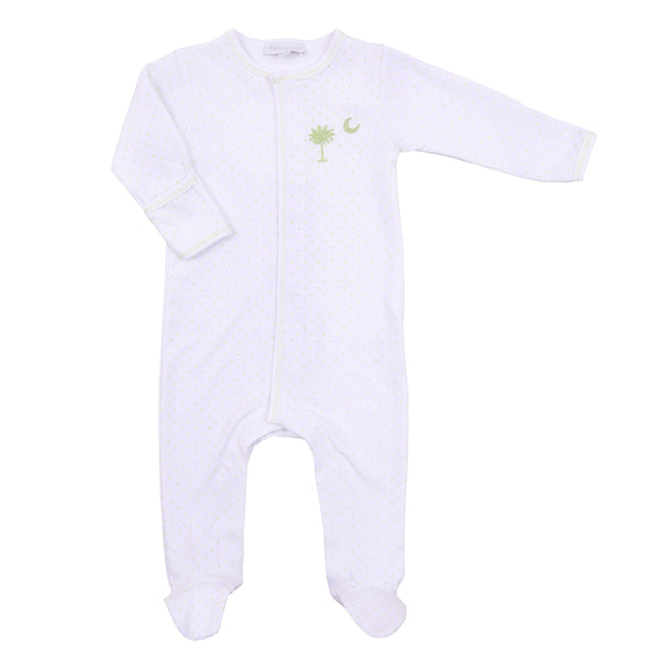 Palmetto Baby Embroidered Footie
