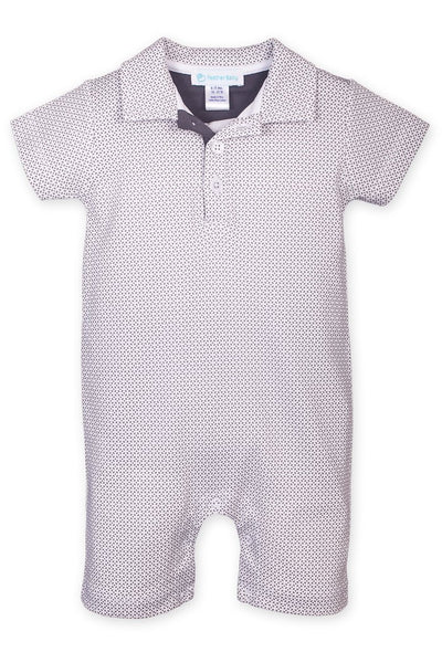 Tiny Geo Collared Romper
