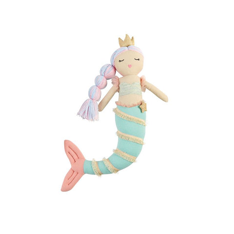 Green Linen Mermaid Doll