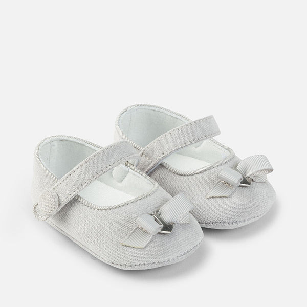 Grey Pearl Corduroy Mary Janes