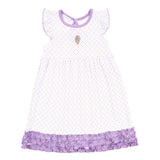 Tiny Ice Cream Embroidered Ruffle Dress