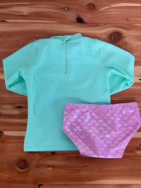 Mermaid Rashguard Set Lilac/Mint