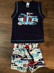 Big Fishy Tank and Swim Short Set