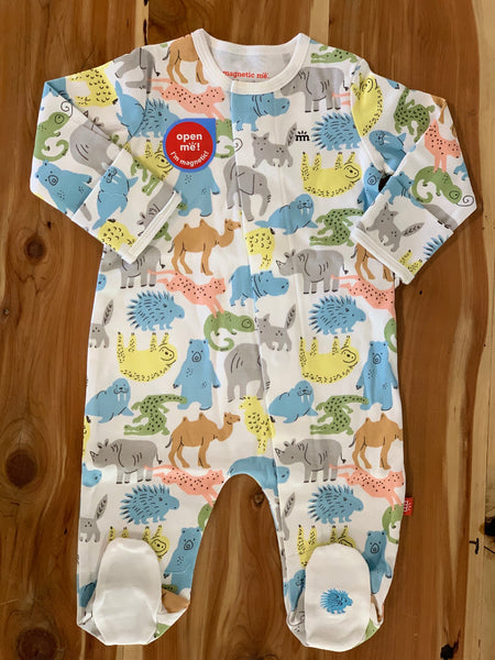 Zoo Crew Organic Cotton Magnetic Footie