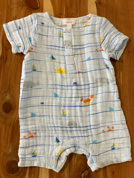 Sea Stripes Henley Muslin Shortall