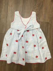 Crab Embroidered Dress
